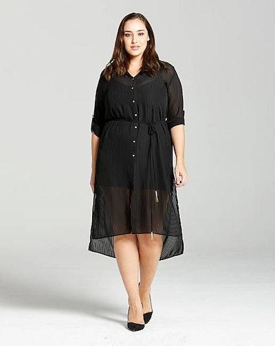Elvi Black Shirt Dress