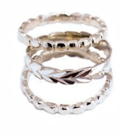 Hula Bee Bold Stack Sterling Toe Rings