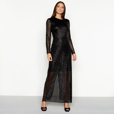 Star By Julien Macdonald Black Sequin Evening Dress