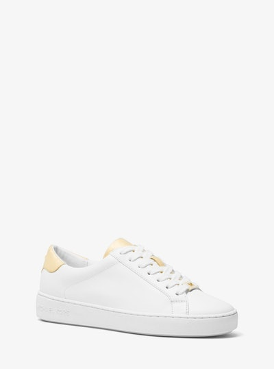 Irving Leather and Metallic Sneaker