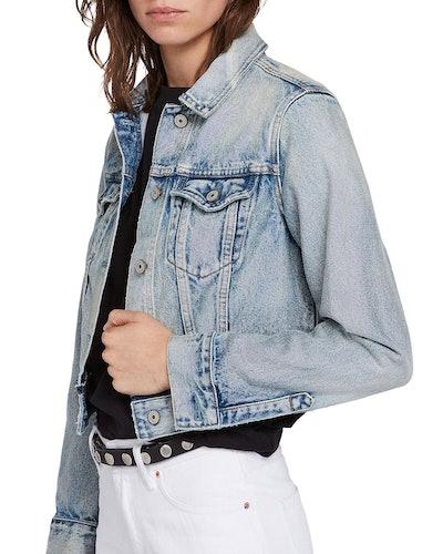 Hay Cropped Denim Jacket