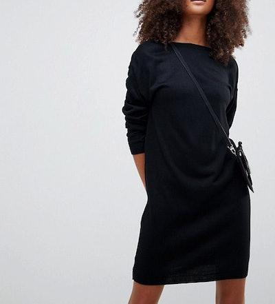 Cut Out V Back Sweater Dress