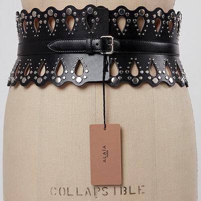 Rob & Mariel's Alaia Black Leather Belt
