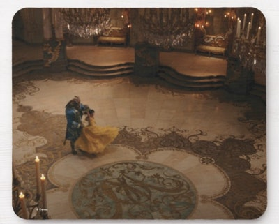 Belle & Beast   A Grand Romance Mouse Pad