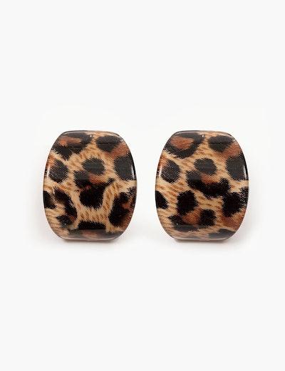 Leopard Tortoise Shell Earrings