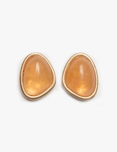 Amber Disk Earrings