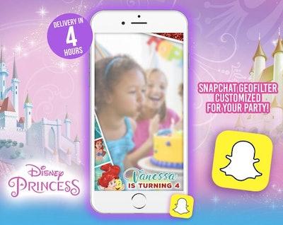 Disney Princess Ariel Birthday Snapchat Filter