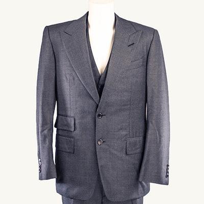 Ilaria Urbinati's Tom Ford Three-Piece Wool Suit