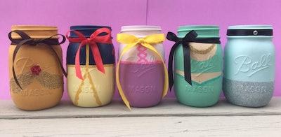 Disney Princess Mason Jar