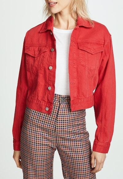 Annie Cropped Denim Jacket