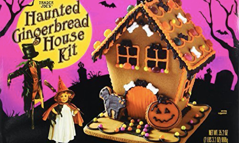 trader joes has haunted cookie house kits for halloween and theyre super affordable