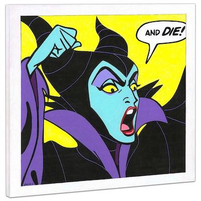 "Maleficent ""Birthday Wishes"" Giclée on Canvas"