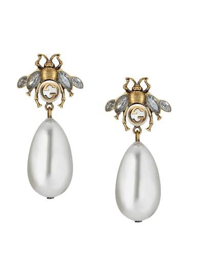 Bee Drop Earrings