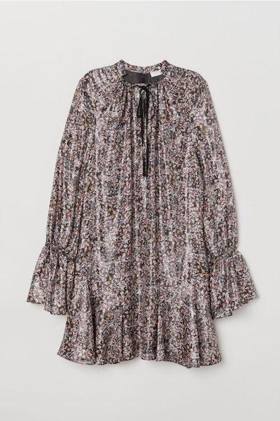 Silk-Blend Dress