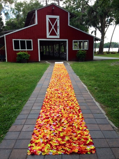 Barnyard-Fall Wedding Aisle Runner