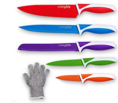 Chef Grids 12-Piece Premium Kitchen Knife Set
