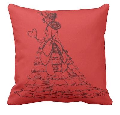 Queen Of Hearts Throw Pillow