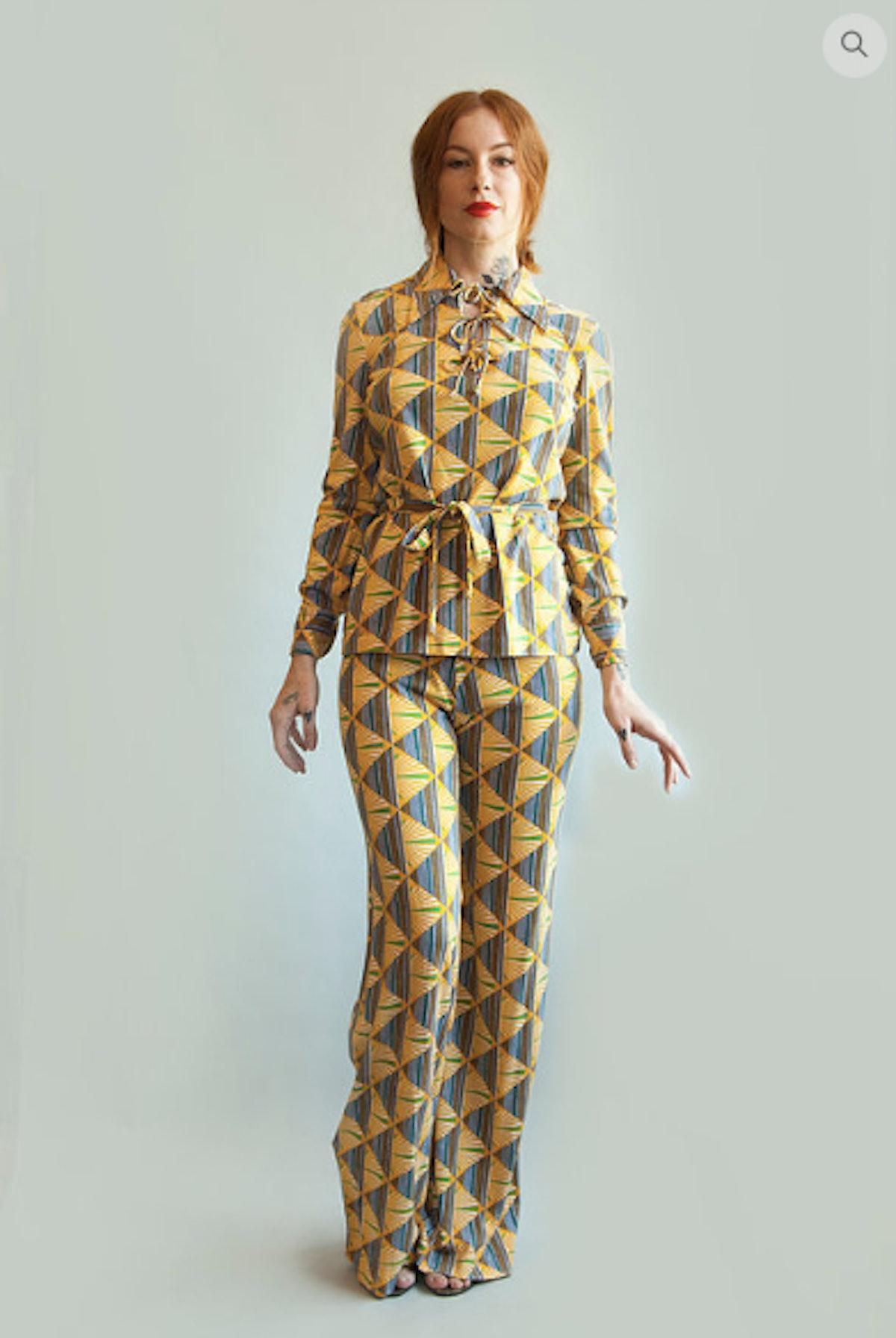 1970s DVF Tunic & Pants Set