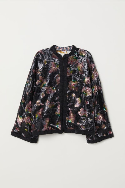 Sequin-Embroidered Jacket