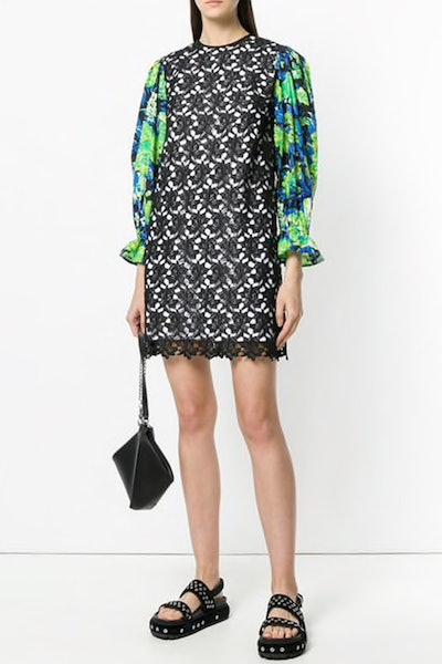 Floral Sleeve Mini Dress