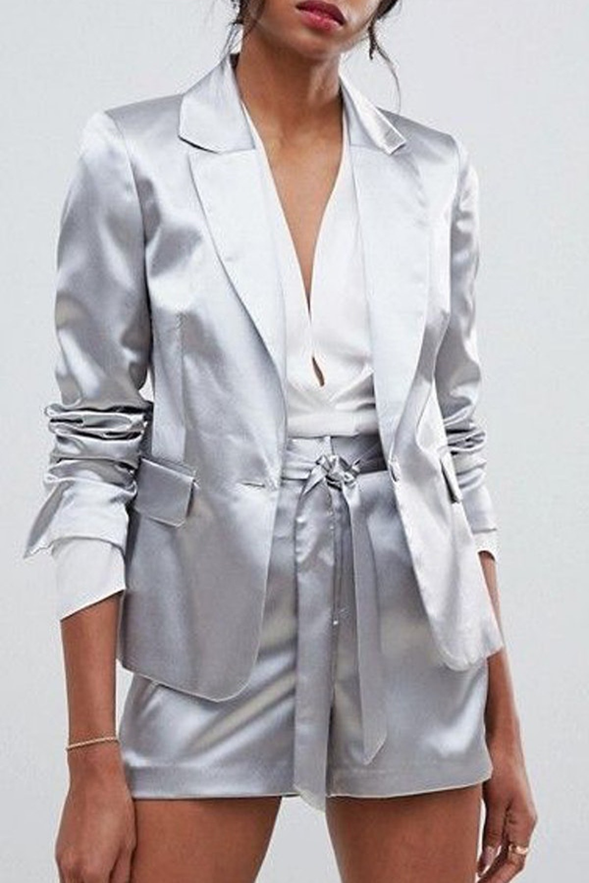 Occasion Tailored Shimmer Blazer Shorts Two-Piece