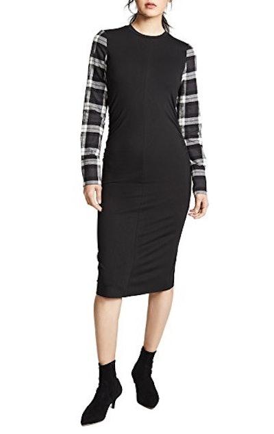 Jersey Plaid Dress