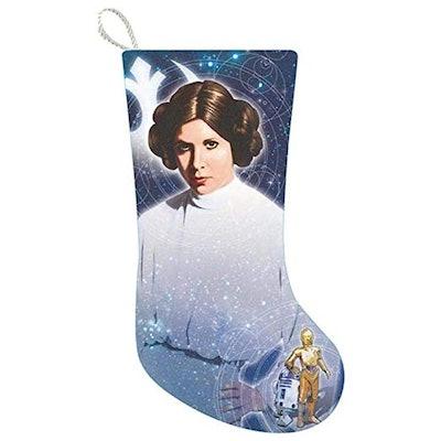 "Kurt Adler 19"" Star Wars Princess Leia Printed Stocking"