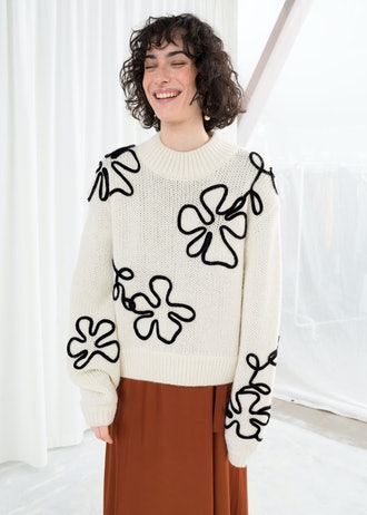 Floral Rope Sweater