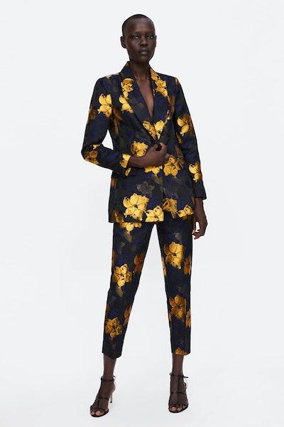 Floral Jacquard Suit
