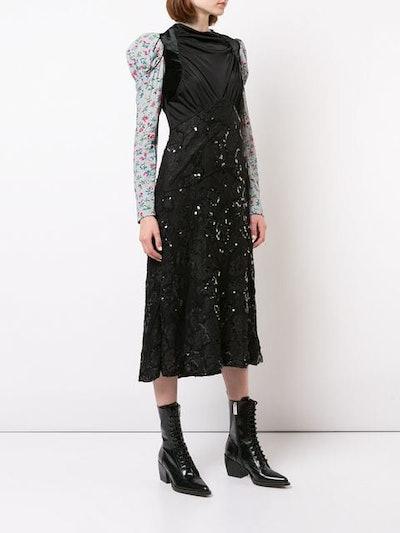 Floral Print Sleeves Dress
