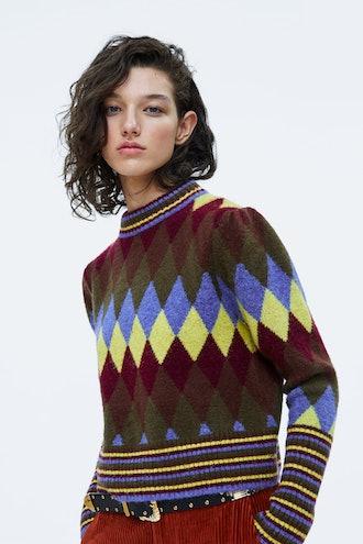 Multicolored Argyle Sweater