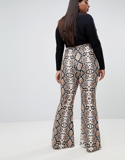 Lasula Plus flare pant in snake