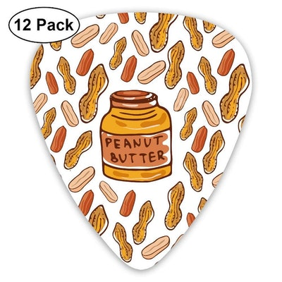 WOODRAIN Peanuts Butter Jar Sketched Nuts Guitar Picks