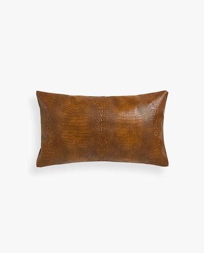 Mock-Croc Throw Pillow Cover