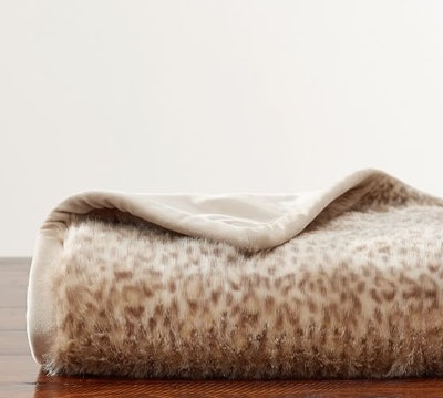 Faux Fur Dune Leopard Throws