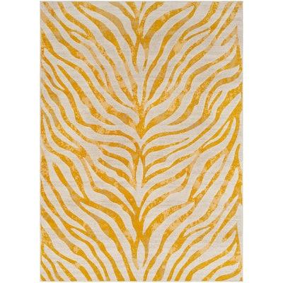 Mustard Animal Print Area Rug
