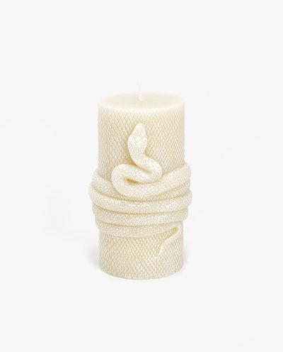 Snake-Shaped Candle