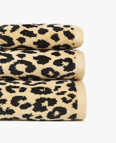 Leopard Print Jacquard Towel