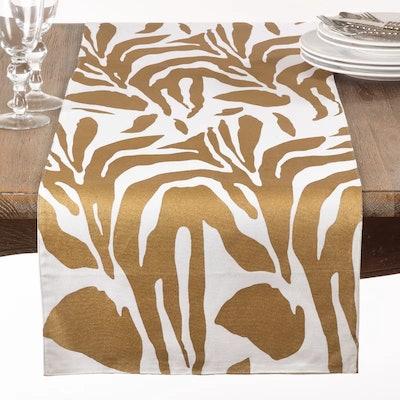 Metallic Animal Print Cotton Table Runner