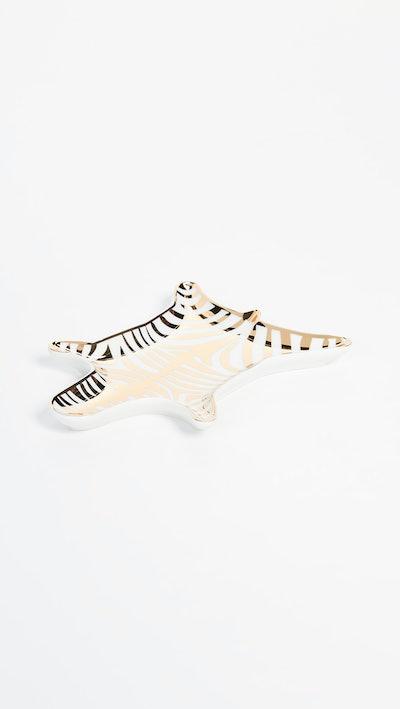 Metallic Zebra Dish