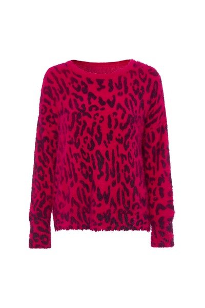 Pink Leopard Jumper