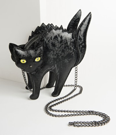 Black Scaredy Cat Kitsch Crossbody