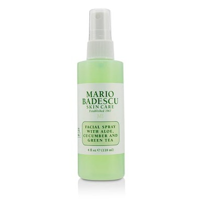 Facial Spray With Aloe, Cucumber And Green Tea - For All Skin Types
