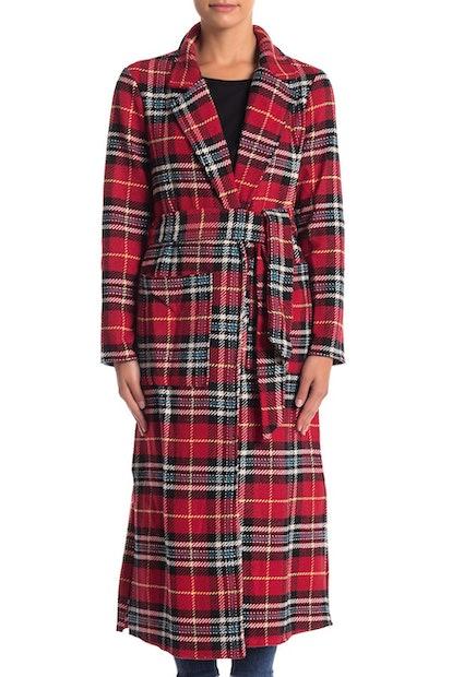 CODEXMODE Plaid Maxi Coat