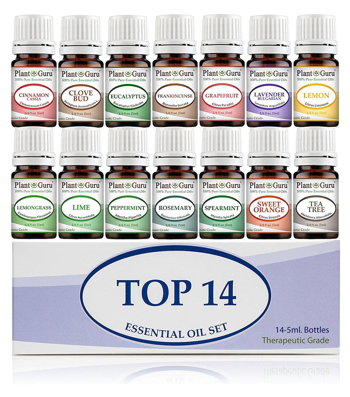 Plant Guru Essential Oil Set, 5 ml (14 Pack)