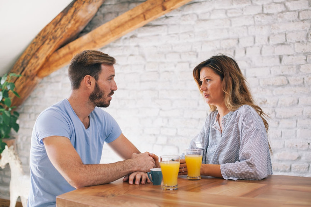 A woman whose partner is bad at communicating tells him he needs to do better.