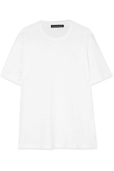Nash Face Appliquéd Cotton-Jersey T-Shirt