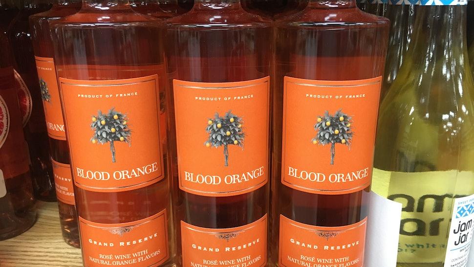 Blood Orange Rose Wine At Trader Joes Is A Citrus Y Twist On Your