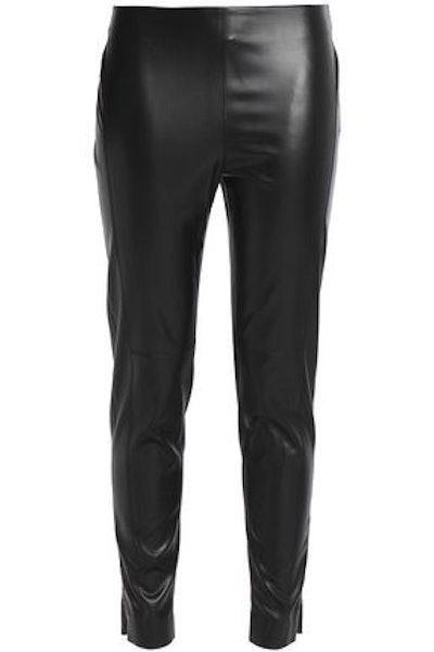 Faux Leather Slim-Leg Pants