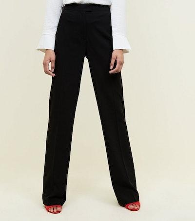 Tall Black Bootcut Trousers